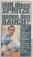 Bildzeitung 09.10.06 Fett-weg-Spritze Dr. Kai Rezai Münster