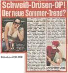 Bild Zeitung Schweißdrüsenabsaugung Dr. Kai Rezai