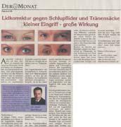 Lidkorrektur Schlupflid Operation Tränensäcke Dr. Kai Rezai