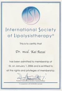 Mitglied der Internationalen Gesellschaft für Lipolyse; Dr. med. Kai Rezai