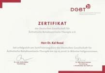 Botox Zertifizierung Dr. Kai Rezai